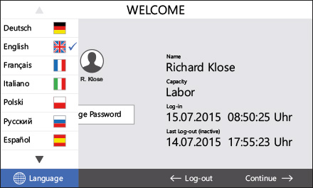 Control2015 touch User login