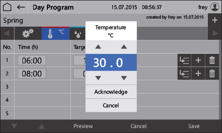 Control2015 touch Program input