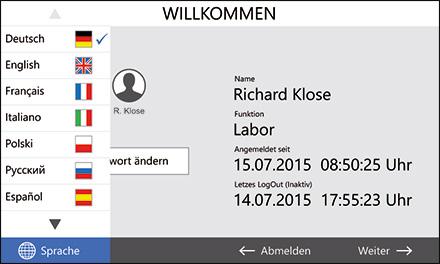 Control2015 touch Benutzer-Login