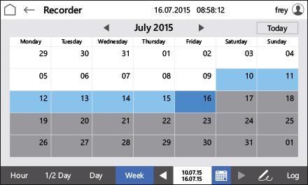 Control2015 touch Calendar
