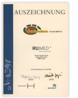 RUMED Oekoprofit Certificate