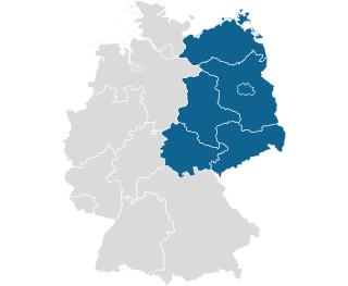 PLZ Karte neue Bundeslaender