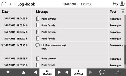 Control2015 touch Logbuch