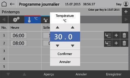 Control2015 touch Programmeingabe