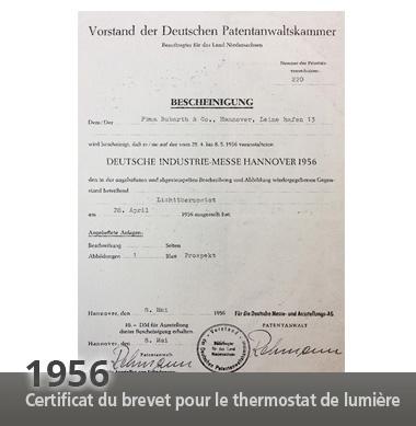 Historie Patentbescheinigung Licht